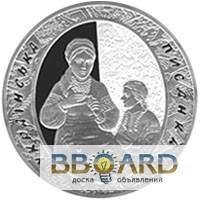 Серебряные украинские юбилейные монеты 62.2 грамма