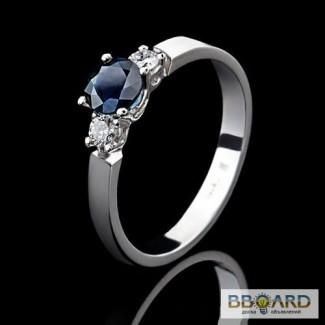Кольцо из платины с бриллиантами и сапфиром «Magic Rings».