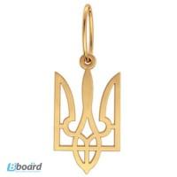 Золотой кулон «Ukraine».