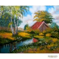 Картина Лесной пейзаж холст, масло, 40х50 см.