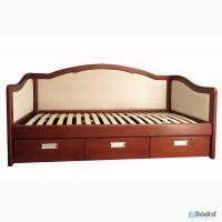 Кровать-диван деревянный из массива ясеня от производителя