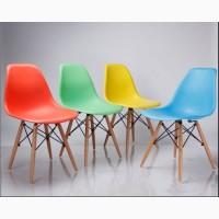 Стул пластиковый Тауэр Вуд, ноги бук, черный, белый, голубой, серый, красный, оранжевый