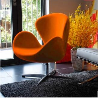 Кресло Сван, основание металл, ткань, цвет коричневый, зеленый, серый, голубой
