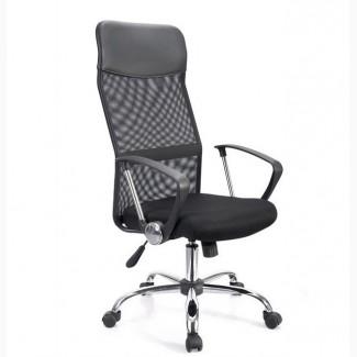 Крісло офісне Олівія D, чорного кольору з сіткою