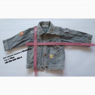 Джинсовая курточка baby bol с нашивками джинсовка серая