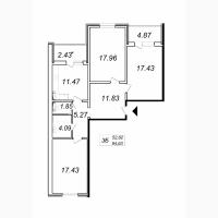 Продаю трехкомнатные квартиры в ЖК Кристер Град