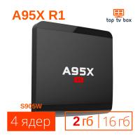 Купить A95X R1 Android 6 Smart tv box тв приставка смарт WiFi цена отзывы