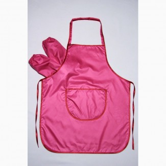 Фартук для труда и творчества с нарукавниками розовый