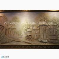 Барельеф, скульптура, лепнина, орнамент, художественная роспись