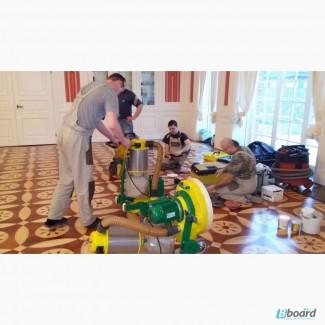 Беспылевая, циклевка шлифовка паркета, ремонт за 1 день Киев