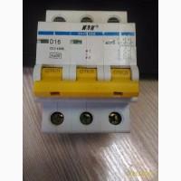 Автомат электропитания ВА47-29М 3Р, D, 16А, 6кА, IEK