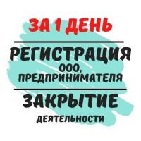 Регистрация ЧП, ООО, Предпринимателя, Ликвидация деятельности, НЕДОРОГО