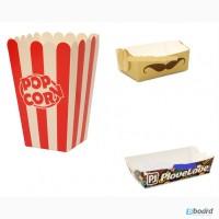 Бумажная тарелка. Стаканы для попкорна