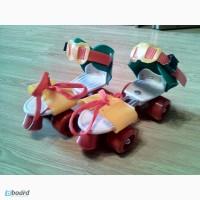 Ролики детские раздвижные квадровые Mini Roller, PU ( 16-20 см. ) Зеленый/Желтый, Киев