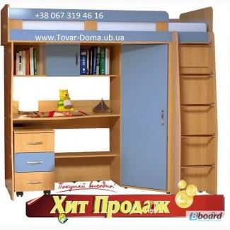 Двухъярусная кровать + Стол письменный + Шкаф Выгода