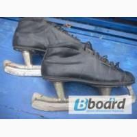 Коньки с ботинками из советской стали
