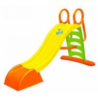Детская пластиковая горка длина спуска 180см