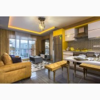 Шикарные квартиры планировки 1+1 в жилом комплексе в г. Алании Турция