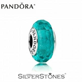 Скидки! Оригинал Pandora Пандора шарм мурано бирюзовый 791655