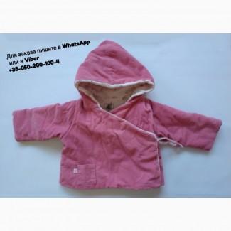 Курточка Petit Bateau детская розовая двухсторонняя с капюшоном