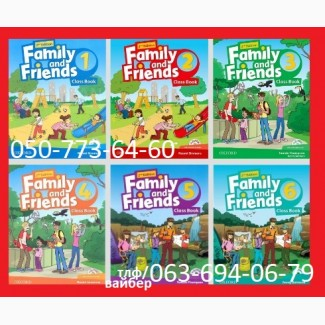 Продам Family and Friends starter, 1, 2, 3, 4, 5, 6 2-nd edition Classbook + workbook комплект