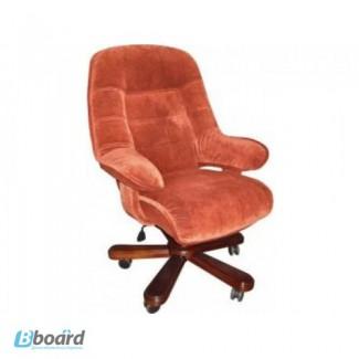 Офисная мебель: кресло Status Econom кожаное в дереве