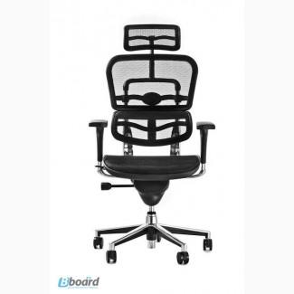 Кресло офисное ERGOHUMAN Black, спинка/сетка, сидение/сетка, полированная база