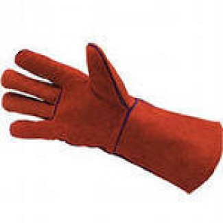 Перчатки спилковые с крагами