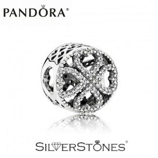 Скидки! Pandora Пандора шарм бусина Лепестки любви арт. 791808CZ Оригинал