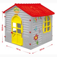 Игровой дом детский серый Лесной