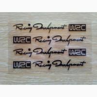 Наклейки на ручки WRC Черная, диски, дворники, багажник