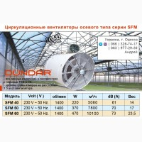 Циркуляционные вентиляторы DUNDAR осевого типа серии SFM