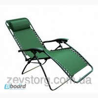 Зеленый складной шезлонг для отдыха