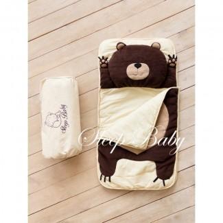 Плед-конверт спальный Мишка для детей (есть размеры)