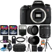 Canon EOS Rebel T6s Цифровые зеркальные линзы 3 18-55 СТМ Kit + 64GB Топ камеры Bundle