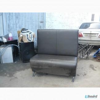 Продам черный диван с высокой спинкой бу для кафе баров ресторанов