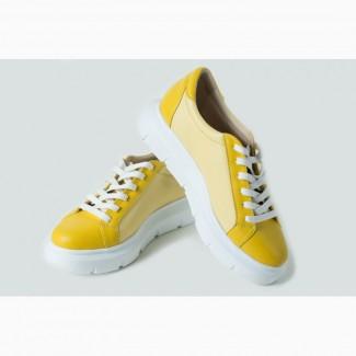 Кроссовки лимонного цвета
