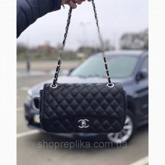 Сумка, клатч реплика Шанелька 2, 55 в черном цвете Топ продаж