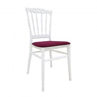 Банкетный стул Донна, белый, штабелируемый, с мягкой подушкой
