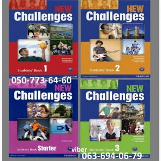 Продам New Challenges 1 2 3 4 5 Student s + workbook комплект