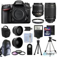 Nikon D7200 Цифровые зеркальные камеры + 4 объектива Комплект: 18-55 VR + 70-300 мм + 32GB