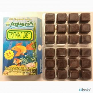 Замороженный корм для рыб Тропикал диет. Блистерная упаковка