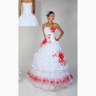 Свадебное платье Украинка 021 с вышивкой