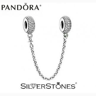 Скидки! Оригинал Pandora Пандора шарм подвеска соединительная цепочка Pave Паве 791736CZ