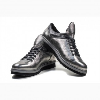 Кроссовки металик (черная подошва)