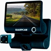 Видеорегистратор Sharpcam z7 авторегистратор 3 камеры