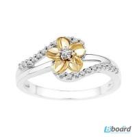 Золотое кольцо для помолвки «Flower nectar».