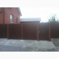 Забор, ворота, калитки, профнастил, металлоконструкции