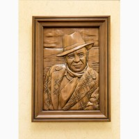 Эксклюзивная картина «Валентин Пикуль» из ценных пород древесины