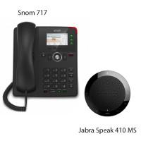 Snom D717 + Jabra Speak 410 MS, комплект: sip телефон + портативный спикерфон